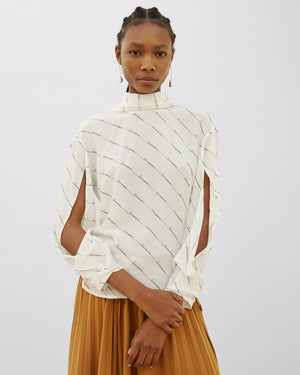 Jessie Blouse Silk Business Print Off-White