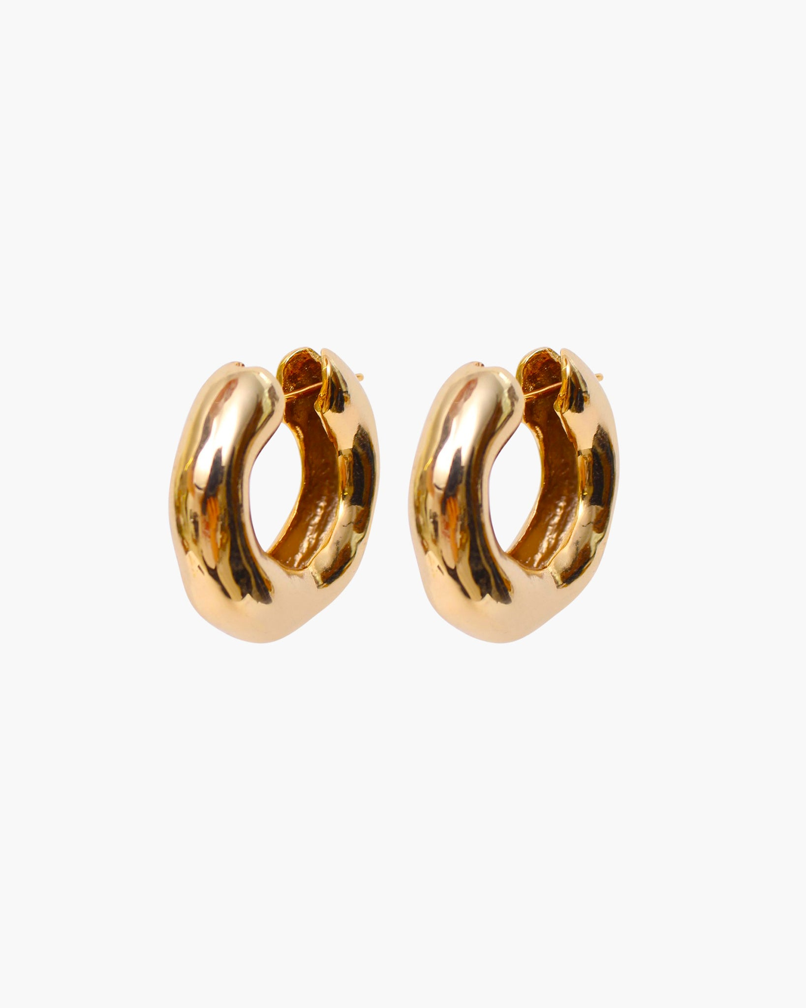 Rowan Hoops Medium Gold Plated 18k