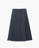 Olivia Pleated Skirt Navy