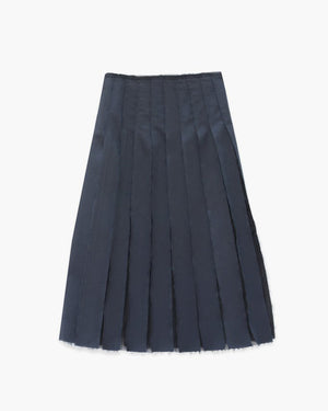 Olivia Navy Pleated Skirt