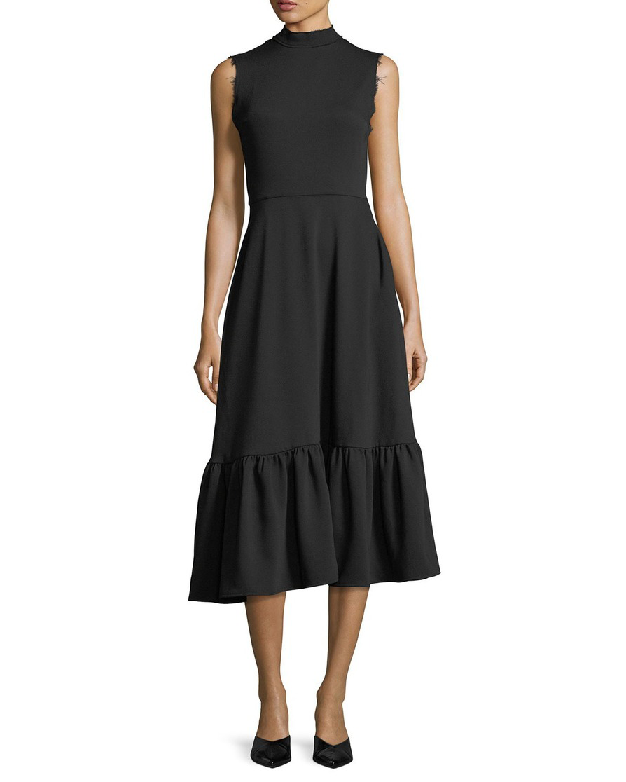 Bridget Short Dress Crepe Black - SPECIAL PRICE