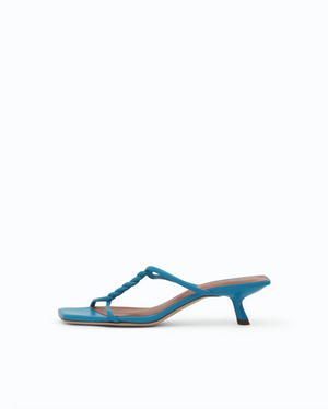 Cleo Sandals Leather Blue