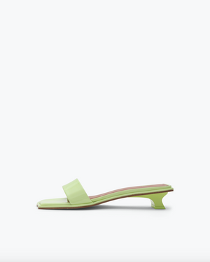 Isla Sandals Patent Leather Pistachio