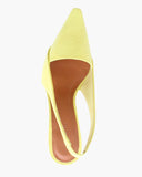 Taylor Slingbacks with White Wood Heels Leather Lime