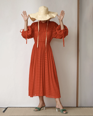 Tia Dress Seersucker Red
