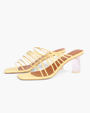 Zoe Sandals Leather Yellow