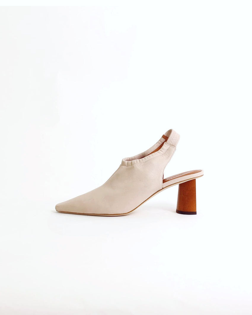 Riley Slingback Leather Beige