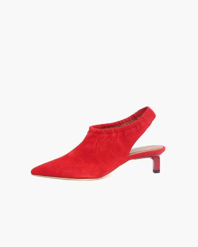 Alissa Slingback Suede Red