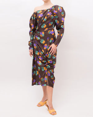 Andi Dress Silk Print Flower