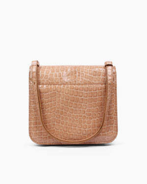 Ana Bag Leather Patent Croc Taupe