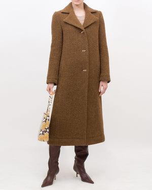 Blair Coat Wool Boucle Brown