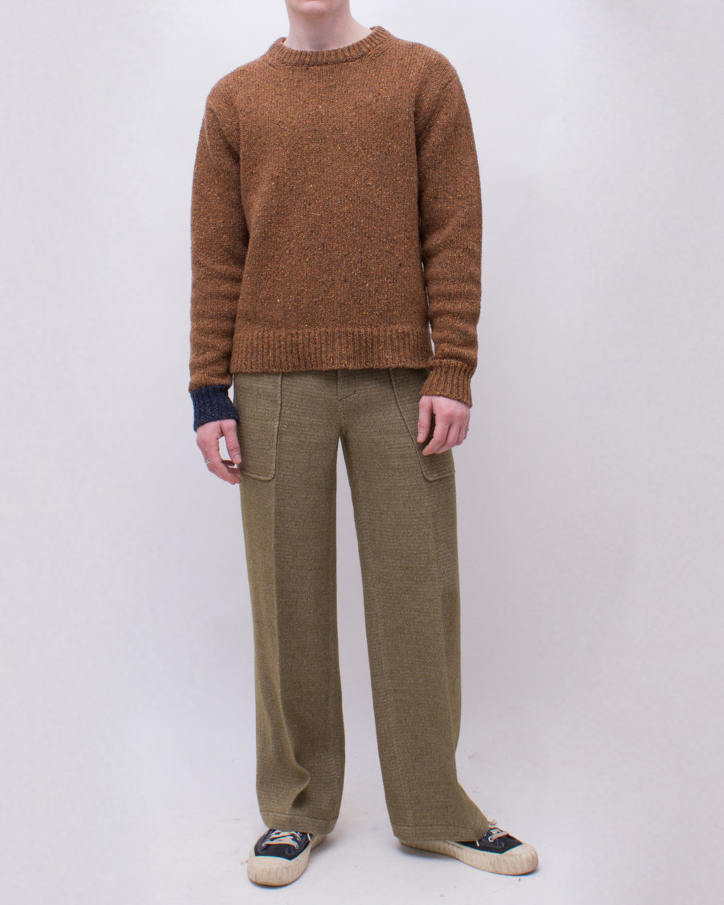 Ellis Sweater Wool Cashmere Blend Brown