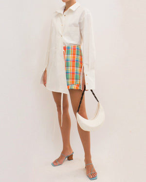 Cecilie Skirt Check Fluo Orange