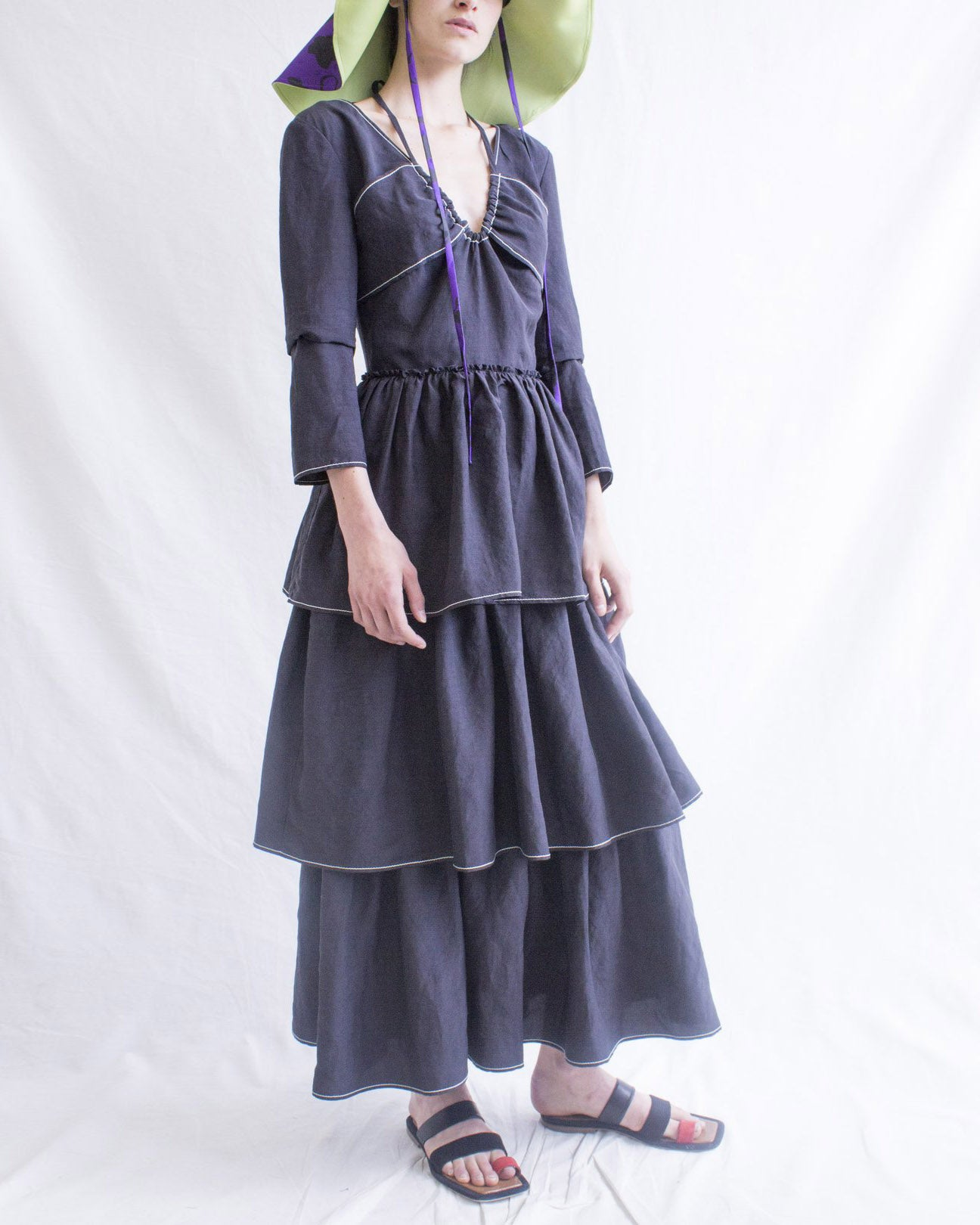 Cleo Dress Linen Black - SPECIAL PRICE