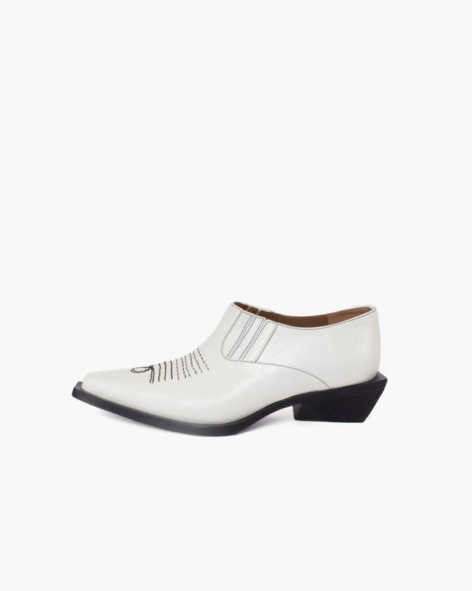 Dolores Brogues Leather White - SPECIAL PRICE