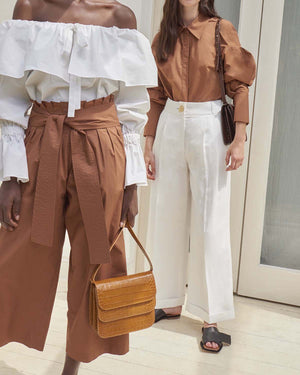 Dylan Tailored Trousers Linen Off-White - SPECIAL PRICE