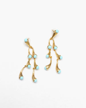 Julia Earrings Gold Blue