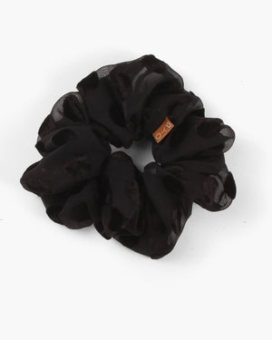 Scrunchie Georgette Jacquard Polka Dot