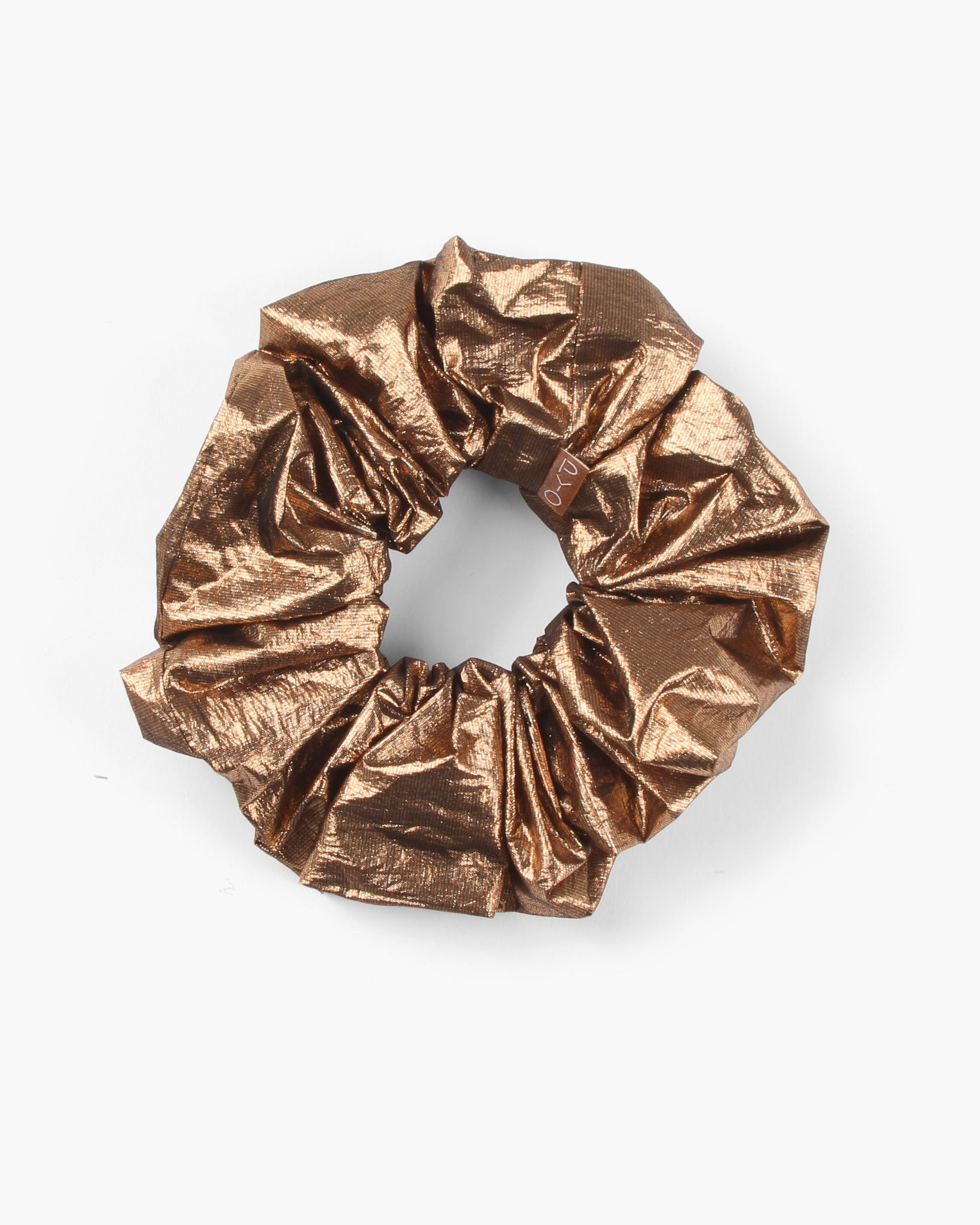 Scrunchie Lamé Metallic Copper