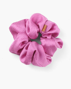 Scrunchie Hammered Silk Pink
