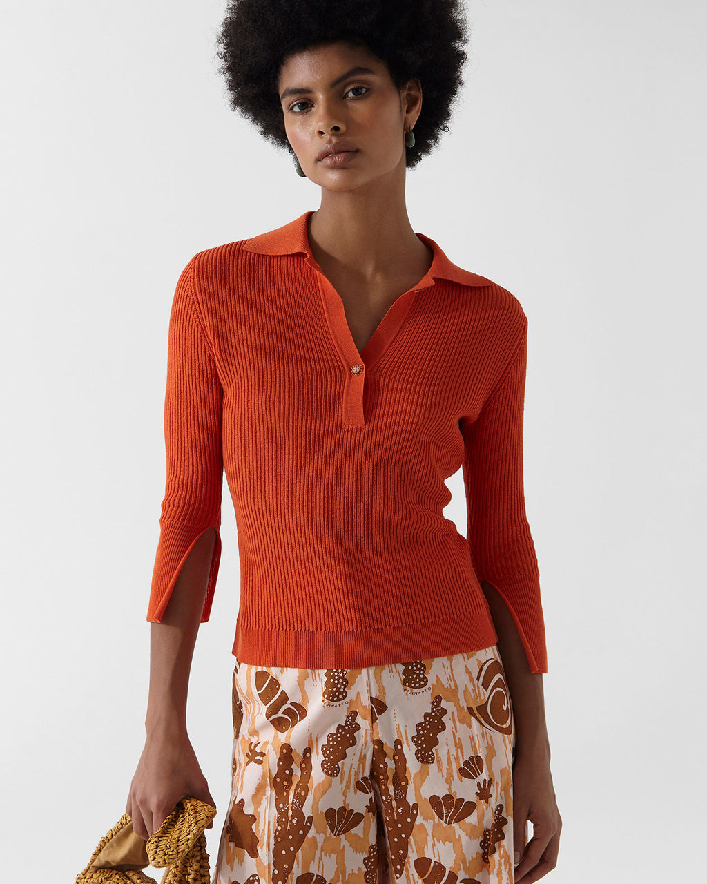 Andi Knit Cotton Blend Orange