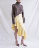 Ella Skirt Linen Butter Yellow