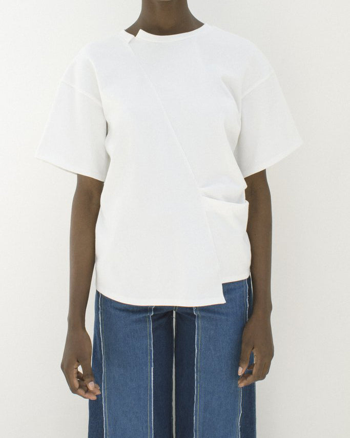 Sabrina T-Shirt Knit Jersey Off-White