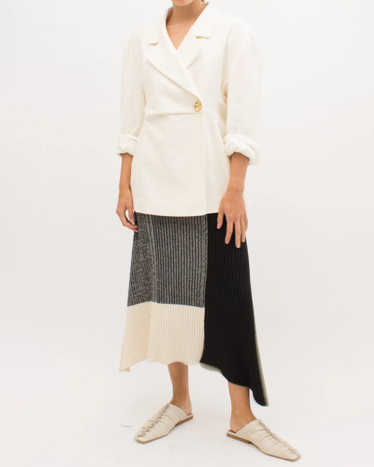 Jodie Jacket Linen Twill Blend Ivory - SPECIAL PRICE