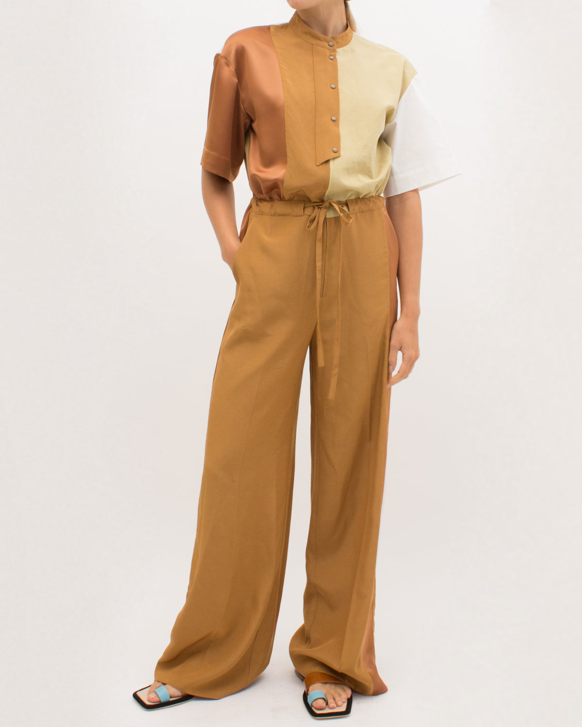 Millie Jumpsuit Viscose Caramel Tonal Mix