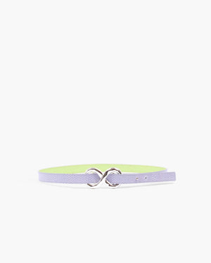 Infinity Belt Leather Emboss Lavender