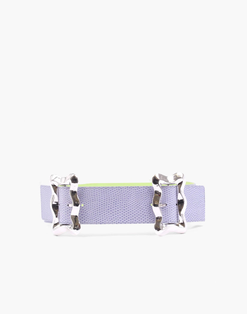 Luna Belt Leather Emboss Lavender - SPECIAL PRICE