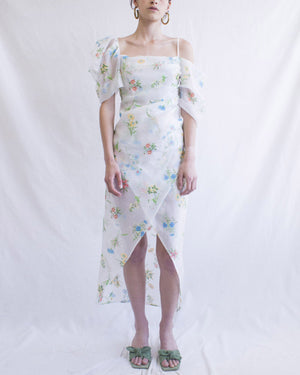 Layla Dress Organza Jacquard Floral