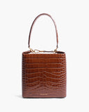 Lucie Bag Leather Emboss Croc Brown