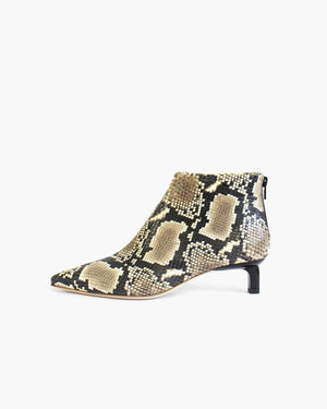 Marta Boot with Black Heel Leather Snake