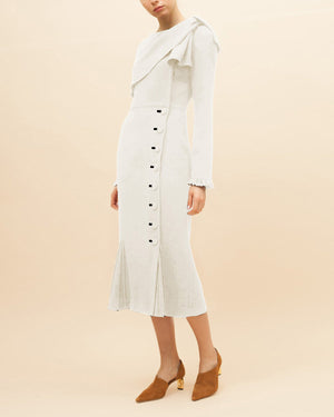 Maude Dress Crepe Ivory - SPECIAL PRICE