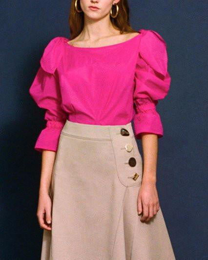 Michelle Blouse Magenta Light Tech