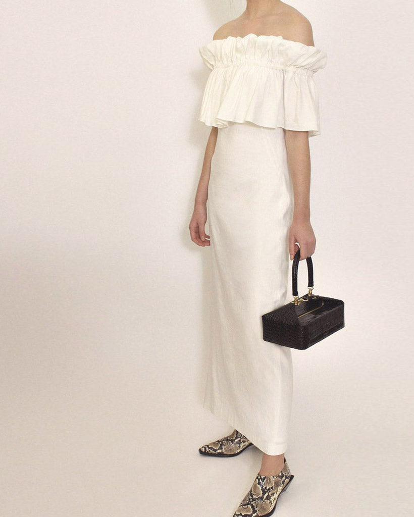 Mina Dress Linen White