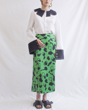 Mina Skirt Print Green - SPECIAL PRICE