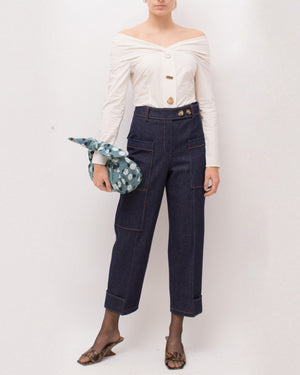 Miriam Blouse Cotton Poplin Off-White
