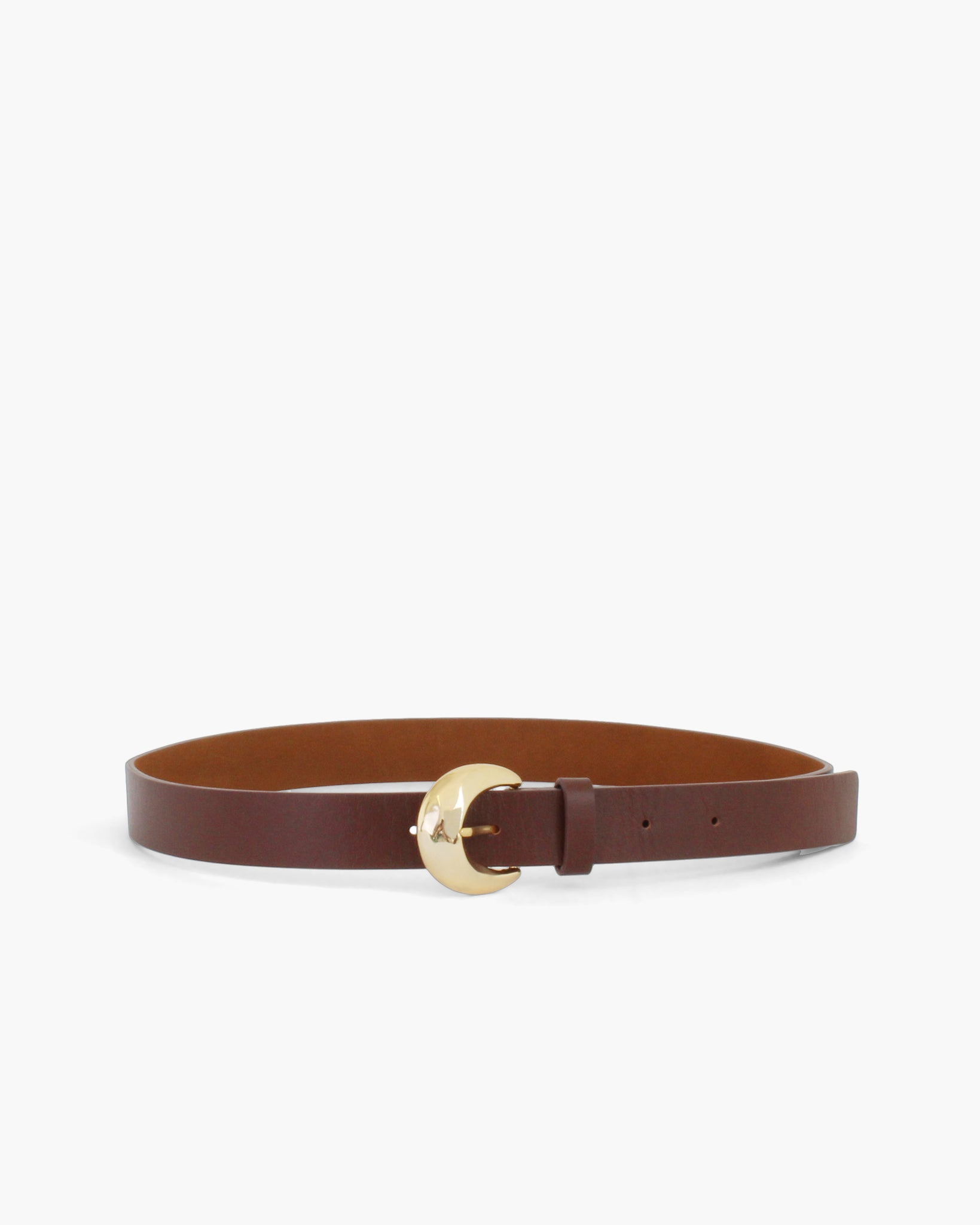 Moon Belt Leather Brown