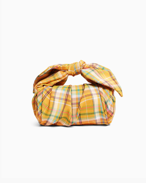 Nane Bag Cotton Blend Check Yellow