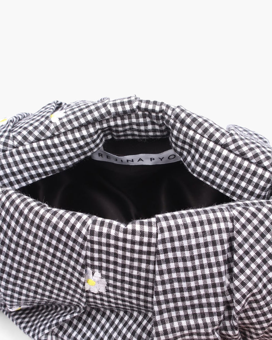 Nane Bag Gingham Daisy Black