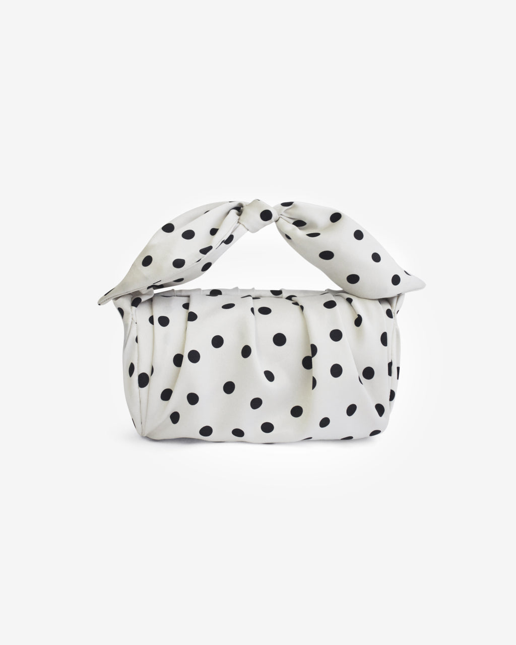 Nane Bag Satin Polka Dot Black and White