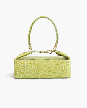 Olivia Box Bag Leather Croc Green