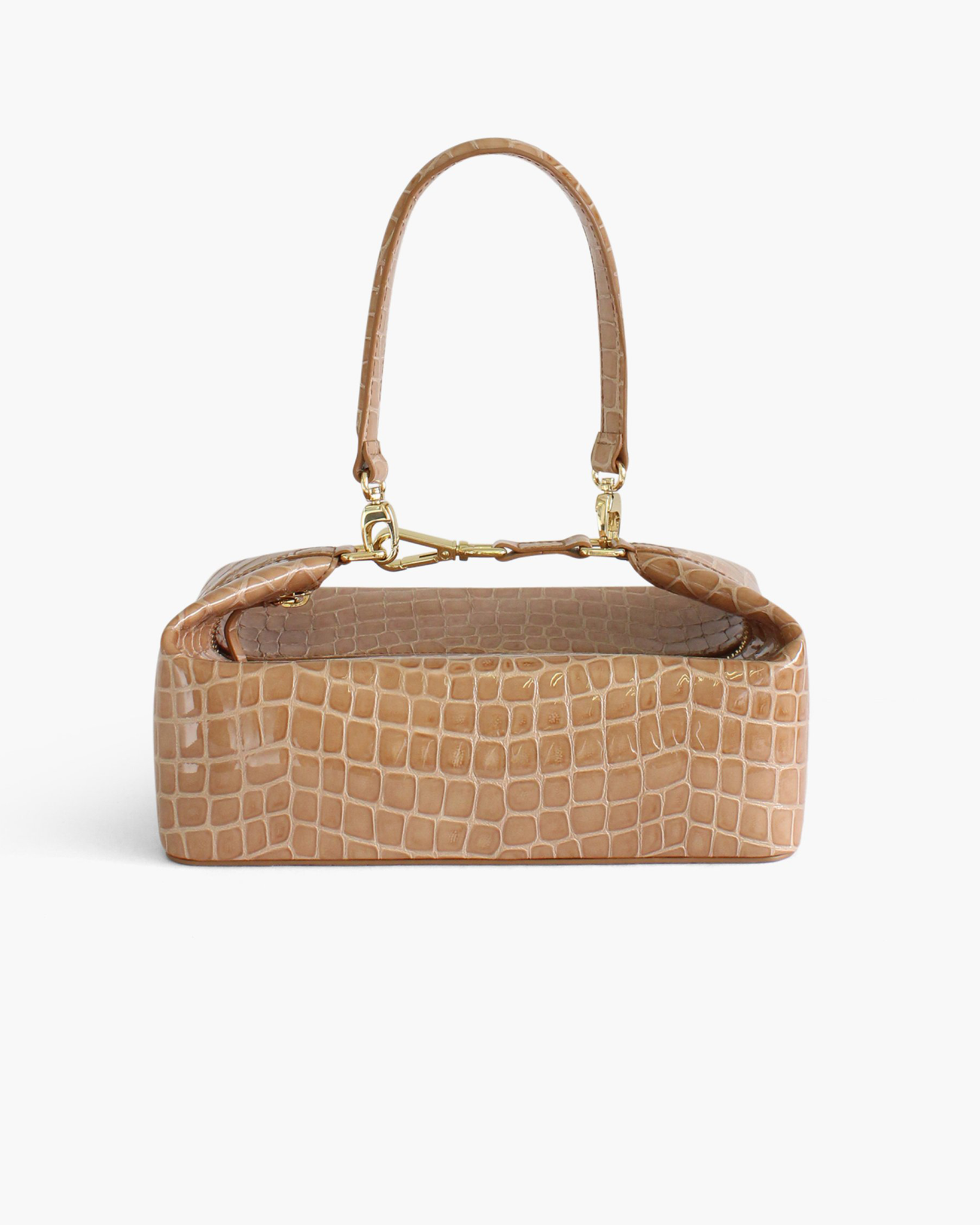Olivia Bag Leather Patent Croc Taupe - SPECIAL PRICE