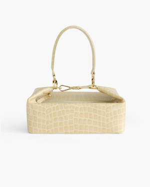 Olivia Bag Leather Patent Croc Cream