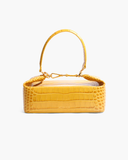 Olivia Bag Leather Croc Yellow - SPECIAL PRICE