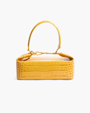 Olivia Bag Leather Croc Yellow