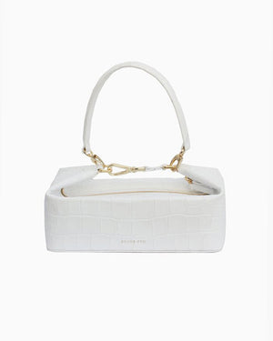 Olivia Bag Leather Croc White