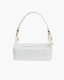 Olivia White Leather Bag